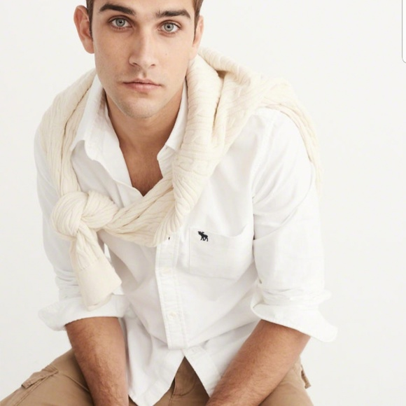 0de6dfb15 Abercrombie & Fitch Shirts | New Abercrombie Oxford White Casual ...